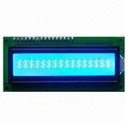 16 Characters x 1 Lines LCD Module, STN (Blue), White Backlight from Xiamen Ocular Optics Co. Ltd