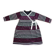 cotton/poly yarn dyed striped velour dresses from China (mainland)