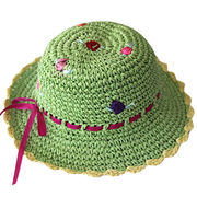 Lady paper straw flower beach sun hat from China (mainland)