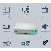China 120 inch Home Theater Laser LED Hybrid Game Projector TV 2200 ANSI Lumens 3D for XBOX ONE PS4 Wii U