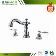 8 Inch Widespread Dual Lever Chrome UPC Brass Bathroom Faucet ...