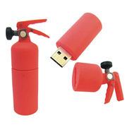 Fire Extinguisher USB Flash Stick, Customized Logos Accepted, 2D/3D PVC Mold from Shenzhen Sinway Technology Co. Ltd