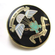 Front whole design metal badge from Taiwan
