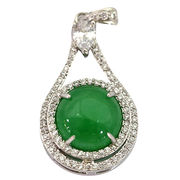 Green jade water droplets pendant from China (mainland)