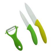 3 PCS Flower Coating Handle Kitchen Knife Set from China (mainland)