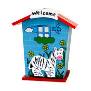 Fashion colorized welcome home wooden money boxes from China (mainland)
