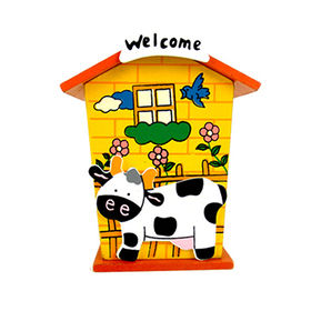 Mini house style wooden money safe box toys from China (mainland)