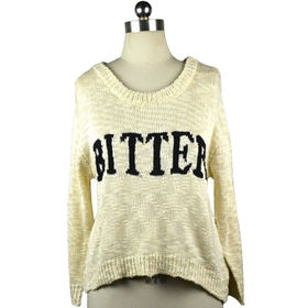Ladies' knitted sweater with fashion style from Hangzhou Willing Textile Co. Ltd