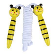 Wooden speed jump ropes toy Manufacturer
