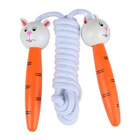 Cute wooden cartoon jumping rope Manufacturer