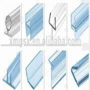 China New Wholesale Heat Resistance Glass Shower Door Seal Good Elastic  Water Stop Strip Synthetic Rubb