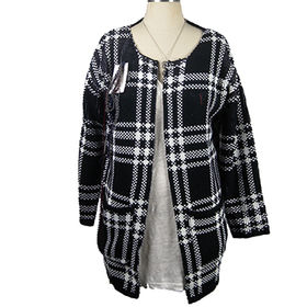 Ladies' knitted cardigan sweater from China (mainland)