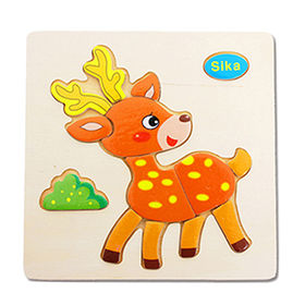 Montessori wooden day puzzles toy