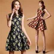 Wholesale Women's high-end brand printed dress, Women's high-end brand printed dress Wholesalers