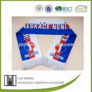 Football fans scarf sublimate printing design kni from China (mainland)