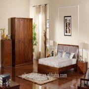 china solid wood bedroom furniture wooden bed designs soft headboard