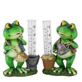 La estatua más nueva del indicador de lluvia de la rana del jardín, hecha de Polyresin de alta calidad, servicios del OEM ofrecidos