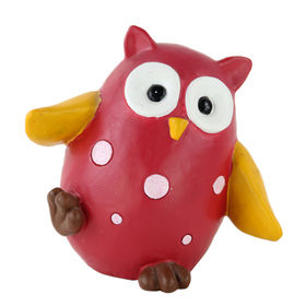 Garden Product Polyresin Handmade Dancing Owl Figurine for Lawn Decoration