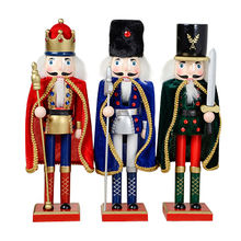 2015 Wholesale Delicate Handmade Wooden Nutcracker Toy, 38cm Height, Model number W02A045