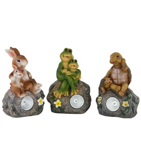 Garden Animals Solar Lights Statues from China (mainland)