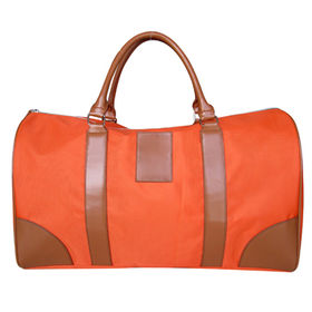 Orange 1680D duffel bag with PVC handle and corners, OEM orders are welcome from Hangzhou J&H Trading Co. Ltd