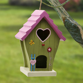 New arrival polystone figurine birdhouse from China (mainland)