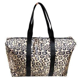China Leopard design satin duffel