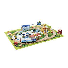 46 pieces wooden Thomas train set toy Manufacturer