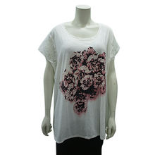 Ladies knitted fashion T-shirt from China (mainland)