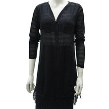 Ladies' knitted fashion T-shirt from China (mainland)
