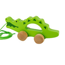 Cartoon wooden animal pull wire walking toy from China (mainland)
