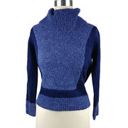 Ladies' fashion knitted pullover, made of 85% acrylic and 15% wool from Hangzhou Willing Textile Co. Ltd