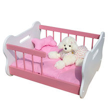 Easy clean luxury pink wooden dog beds from China (mainland)