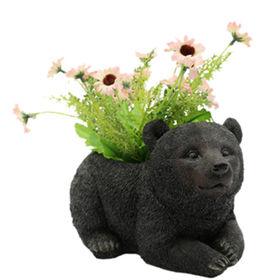 Garden Resin Bear Flower Pots from China (mainland)