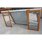 PVC Awning Window with Germany Roto Hardware Both Sides Laminated Renolit wood grain Color