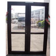 Double Opening Casement Door Laminated Germany Renolit Wood Grain Colors