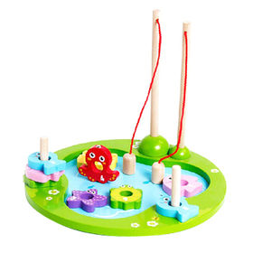 2015 Magnetic 3D Wooden Fishing Game Toy