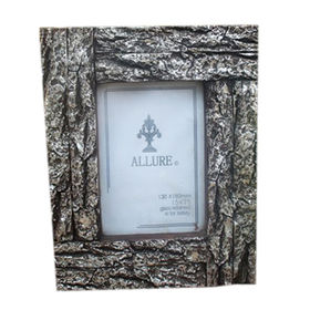 Decorative Wood-look Polyresin Picture Frames, OEM Designs are Welcome from Quanzhou Leader Industry Limited