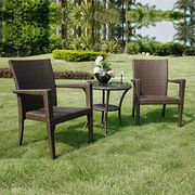 Outdoor Patio Rattan Cafe Set from China (mainland)