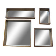 Wood framed square mirror Manufacturer
