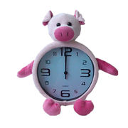 Fashionable design plush wall clock from China (mainland)