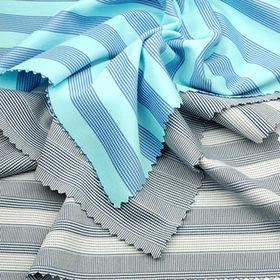 Taiwan Both Side Peached Yarn Dye Stripe Interlock Fabric, Made of 100% Poly