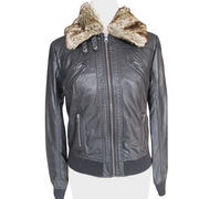 Women's fake leather jackets from China (mainland)