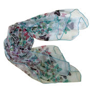 Silk-hand Feel Butterfly Printed Scarves from China (mainland)