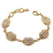 Extravagant Light Gold Lips Bracelet from China (mainland)