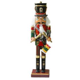 Wooden Indoor Nutcracker Toy for Christmas, Measures 8*7*30.5cm