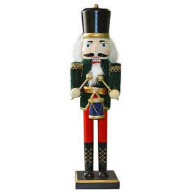Children's wooden soldier nutcracker for decoration, measures 10.5*8.5*38cm