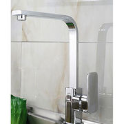 Kitchen faucets, 35mm square style, brass body and pipe