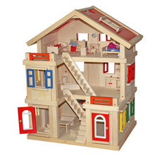 China Happy Family Handmade Diy Wooden Doll House From Wenzhou