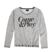 Ladies' 100% Cotton Knitted Jogging Top from China (mainland)